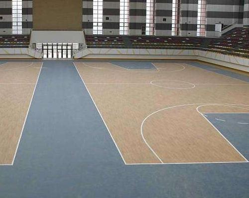 木纹运动地板