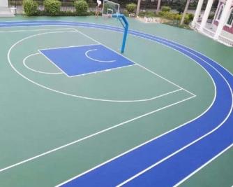 硅pu蓝球场